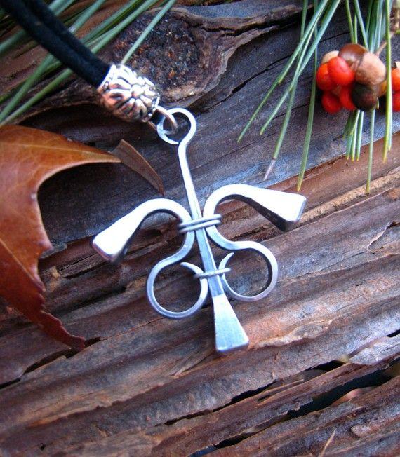 Horseshoe Nail Pendant by brinkinkjewelry on Etsy