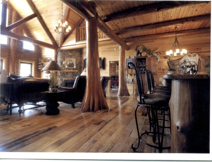 fh000031.jpg (1280×983): Custom Logs, Logs Living, Kitchens Decor, Kitchens Breakfast Bar, Kitchens Islands, Luxury Logs, Logs Home, Logs House, House Plans