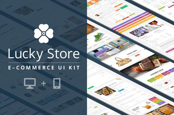 Lucky Store UI Kit by UI Chest on Creative Market