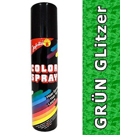 Glitzer Spray grün Glitterspray Haarspray grünes Colorspray Haarcoloration Haarsprays Colorsprays Haarcolorationen