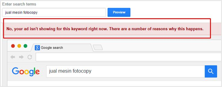 Bagaimana mengatasi iklan Google AdWords yang tidak ditampilkan