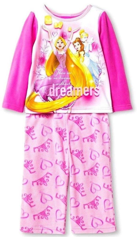 6e851b7163a2 Baby Girls Disney Princess 2pc Pajamas Set Sz 2T New with Tags Comfy ...