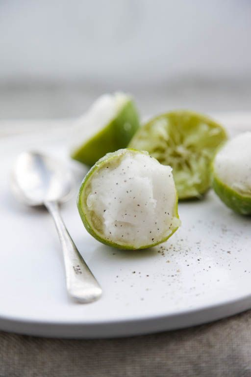 // lime and pepper sorbet
