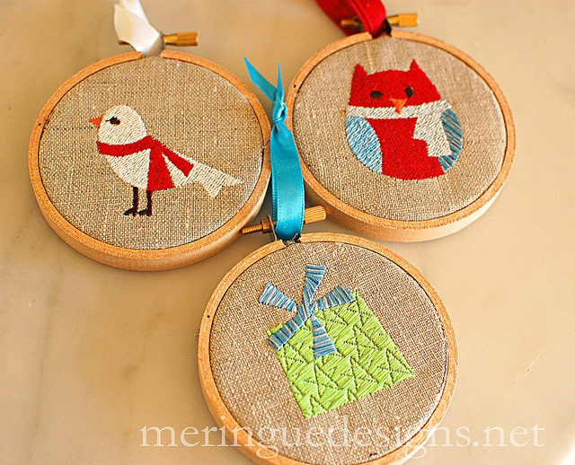christmas ornaments by meringuedesigns, via Flickr