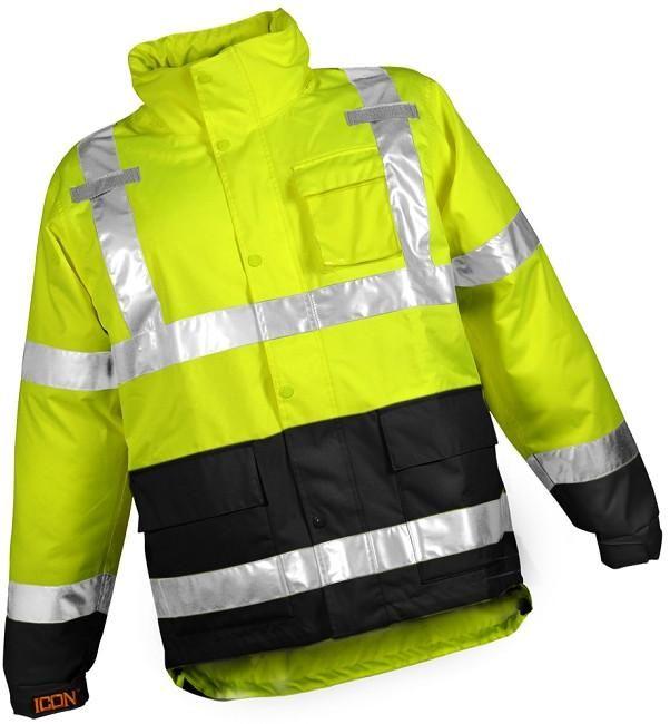 Icon Weatherproof Hivis Jacket Municipal Employee Apparel Item J24122 Danielsrunworkwear Logoappareldepot Westernboo Jackets Tactical Shirt Clothing Logo