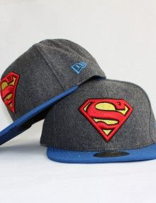 Superman-grey-čepice-dvě
