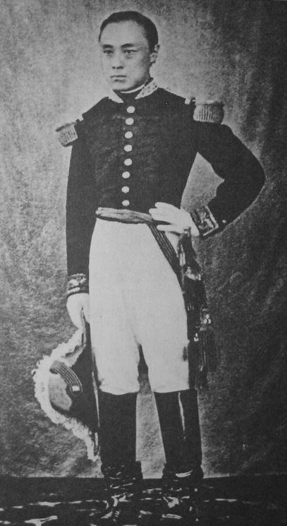 Tokugawa Yoshinobu, the last Shogun, in French military uniform, c. 1867
