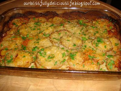 Our Blissfully Delicious Life: Creamy Scalloped Potatoes