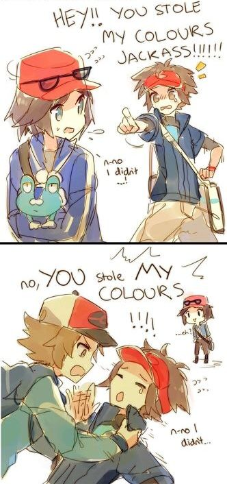 Pokemon XY Black and White Version 1/2 Kyohei, Touya and Calem