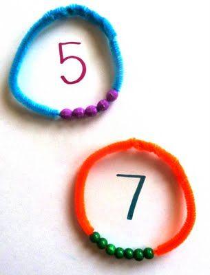 Number Bracelets! Super Duper Idea :)