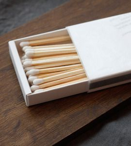 White matches from Alder and Co.
