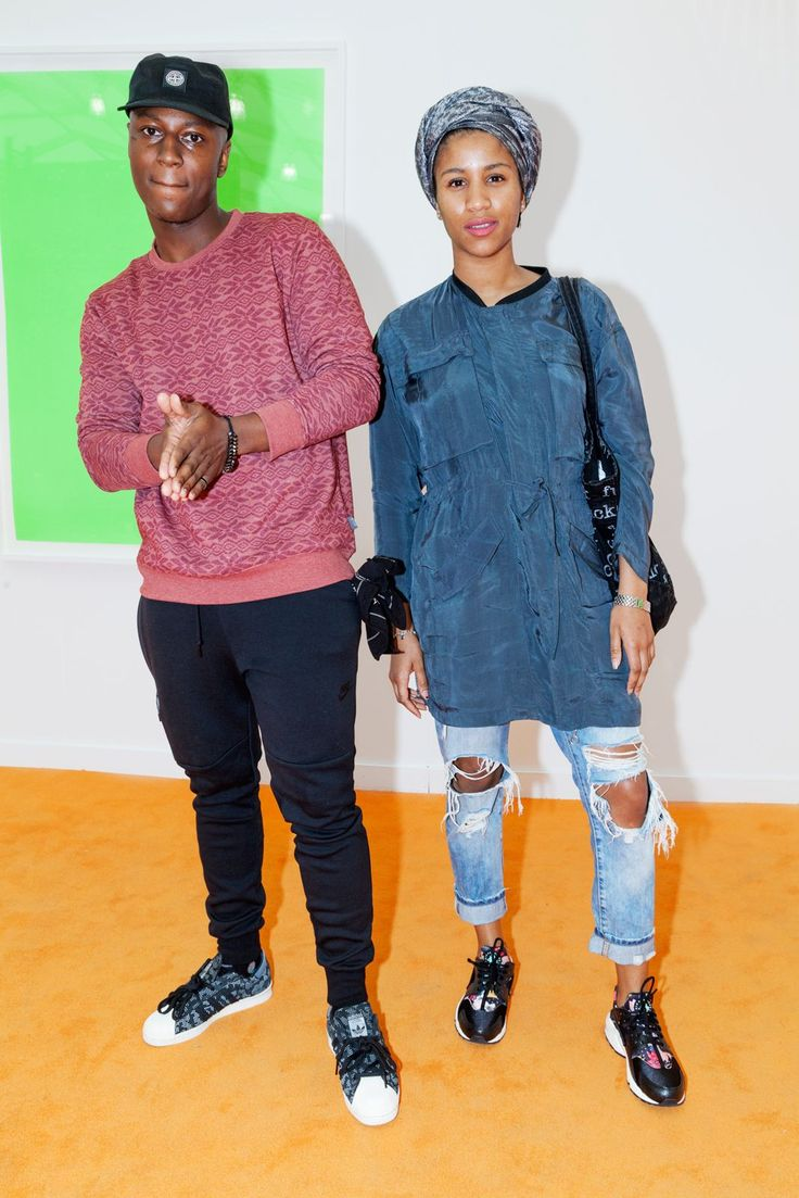 Names: Amber and KadeemJobs: Amber: Mathematician; Kadeem: PrinterAmber can count on our support of her laid-back look and awesome Nike sneaks.