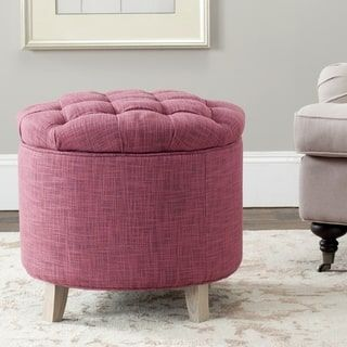 Create Additional Storage Space Wherever You Need It With This Safavieh Storage  Ottoman. Boasting A Spacious Inner Compartment, This Ottoman Offers Plenty  ...