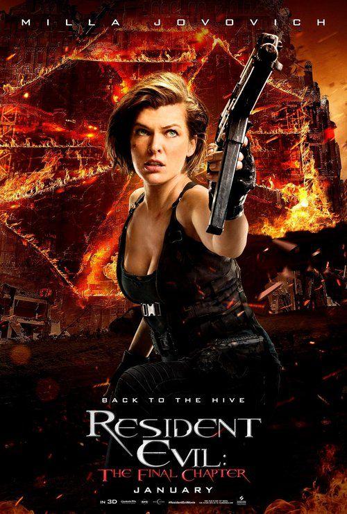 Poster de Milla Jovovich en Resident Evil: The Final Chapter. Hay 4 poster más si visitas el enlace // Milla Jovovich's poster in Resident Evil: The Final Chapter. You can find 4 other posters visiting the link
