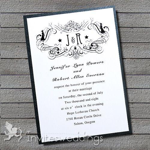 42 best modern wedding invitations images on pinterest invites vintage black and white layered wedding invites iwfc026 wedding invitations online invitesweddings stopboris Gallery
