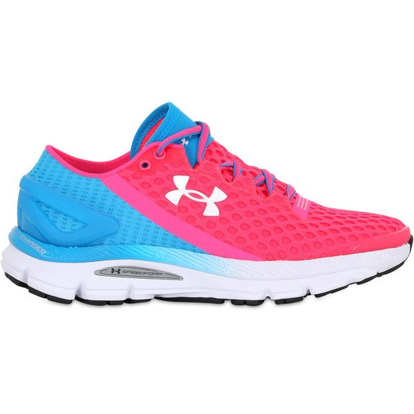 Under Armour Women Speedform Gemini 2 Running Sneakers ($190) ❤ liked on Polyvore featuring shoes, under armour footwear, under armour shoes, under armour and perforated shoes