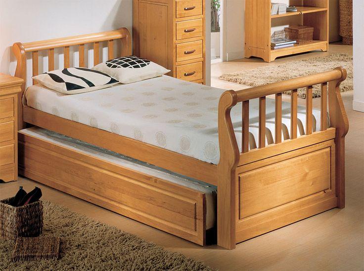 Camas clasicas de madera buscar con google muebles for Cama nido color madera