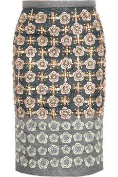 biyan embellished skirt