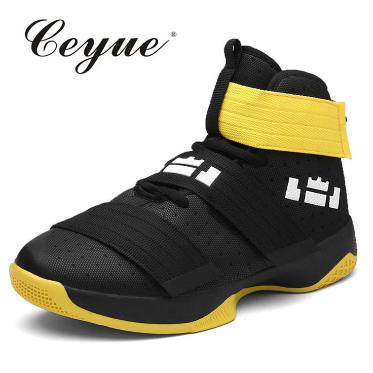 [Visit to Buy] Plus Size 45 Basketball Shoes Men Breathable High Top Sneakers Outdoor Sports Shoes Men Training Athletic Shoes Basketball Homme #Advertisement