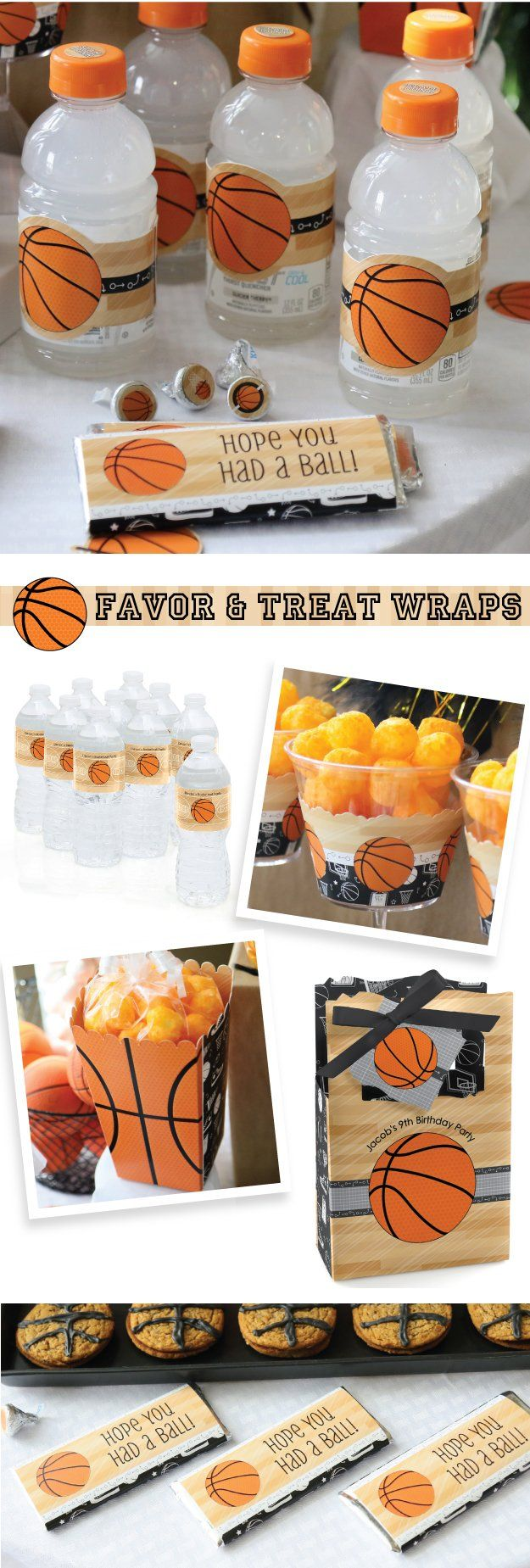 Nothin' But Net - Basketball Party Ideas - Basketball Theme for Baby Shower, Birthday Party or Team Event from BigDotOfHappiness.com