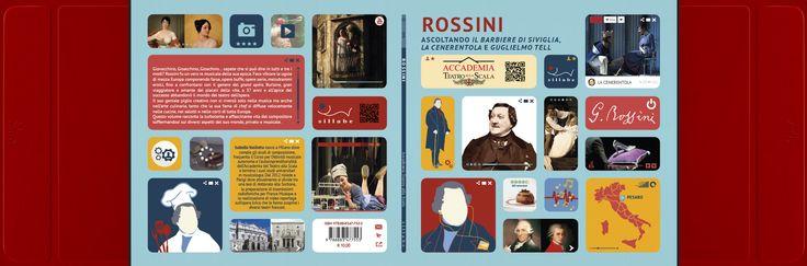 Copertina volume Rossini Edito da Sillabe Progetto Grafico, Grafica e illustrazioni Artbysai