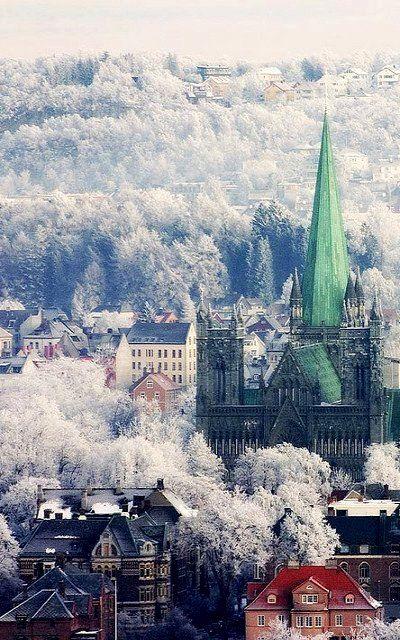 Frosty Morning, Trondheim, Norway....beautiful #scandinavia #winter