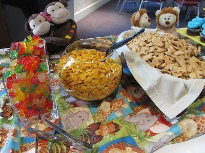 Noahs Ark baby shower theme snacks – maybe chocolate covered gummie bears :)