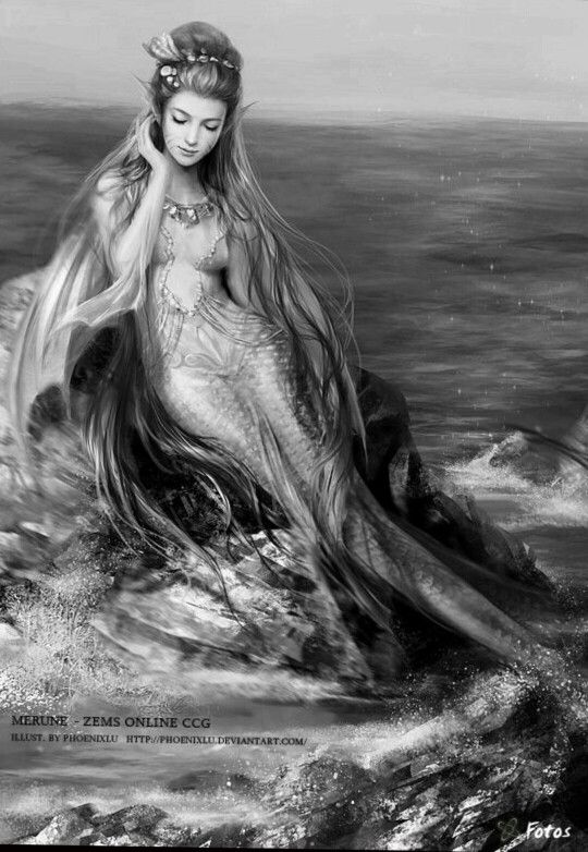 Mermaid Siren  Fantasy Myth Mythical Mystical Legend Coloring pages colouring adult detailed advanced printable Kleuren voor volwassenen coloriage pour adulte anti-stress kleurplaat voor volwassenen.
