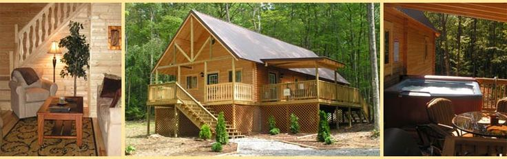 West Virginia Cabin Rentals, West Virginia lodging - Hemlock Haven WV - with the sissy and the pups, they're the whole reason for going, actually