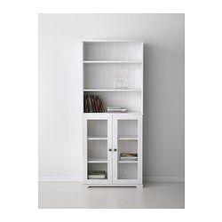 "BORGSJÖ Bookcase with glass doors, white - 29 1/2x12 5/8x71 1/4 "" - IKEA kitchen storage?"