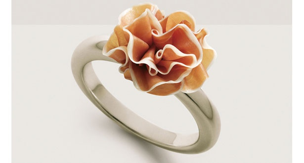 Parma Ham Ring. Fashion with flavour. Photographed by Fulvio Bonavia. Found in Stylist Magazine.