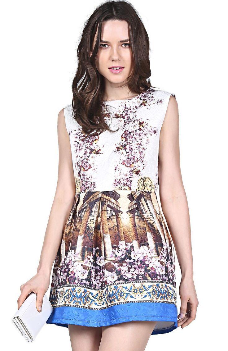 VESTIDO DISEÑO ROMANO Color: Estampado Talla: 38-M, 40-L Precio: 32.99€ www.cocoylola.es #cocoylola #moda #vestidos #tiendaonline #shop #españa