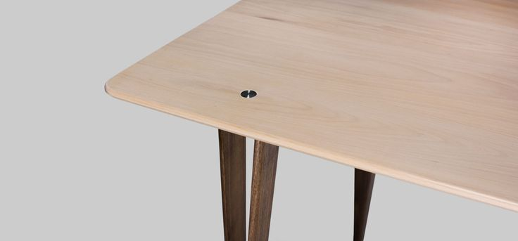 Glide solid wood plat-pack table by Henry Sun at Still Design co. #furniture #design