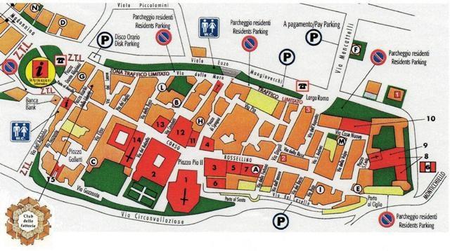 Map of Pienza