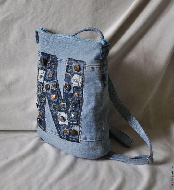 небольшая фото рюкзаков из джинса своими руками сшить скорость