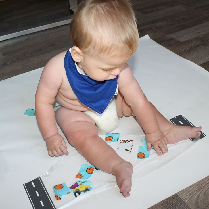 Contact sensory play for babies