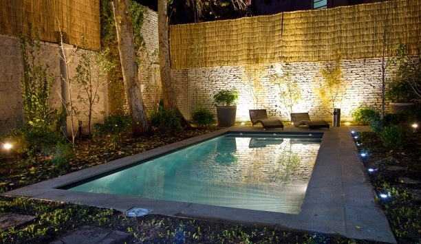 #rethink_hotels  shaded garden with a heated lap pool  Lastarria Boutique Hotel, Santiago Chile