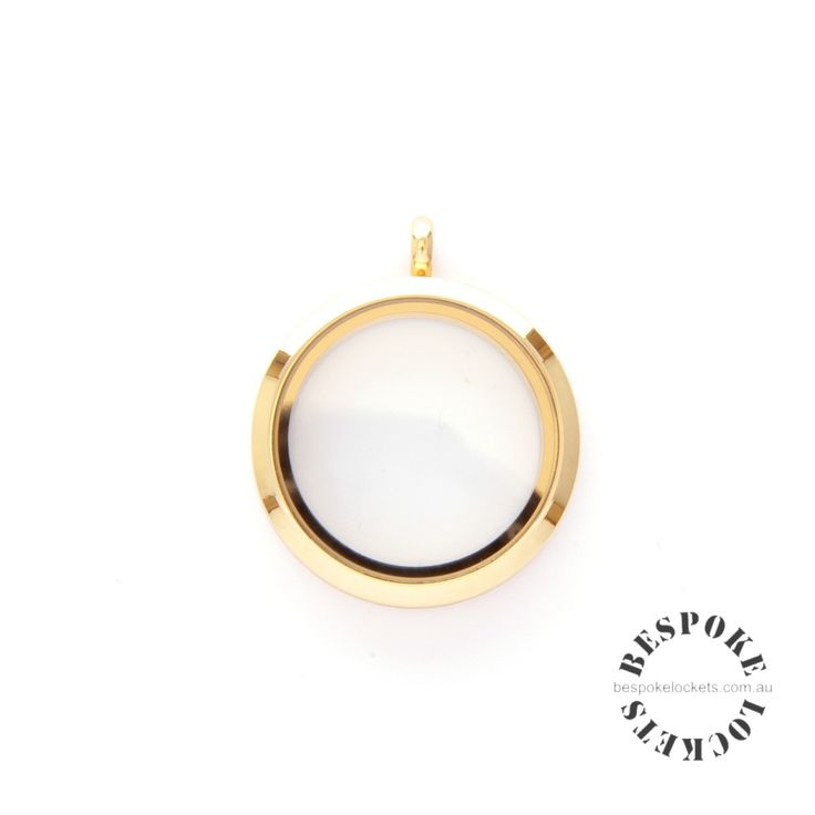 Gold Coloured Round Stainless Steel Locket