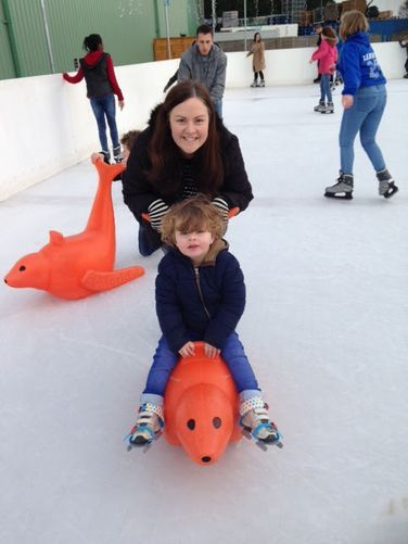 Eliot's First Ice Skate at Frosts Willington