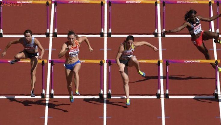 Atleta sofre queda nos 100m com barreiras no Mundial de Atletismo