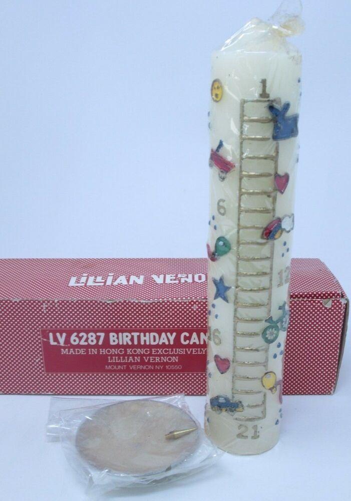 Vintage Lillian Vernon Birthday Candle