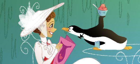 : Disney Movies, Disney Illustrations, Mary Poppins, Disney Fanart, Disney Obsession, Disney Pixar, Disney Art, Things Disney, Penguins Art