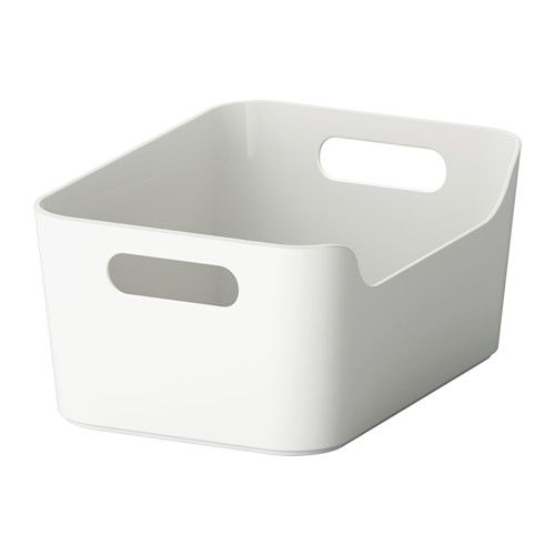 IKEA - VARIERA, Box, The box is easy to carry and take in and out of a drawer or shelf since it has two cut-out handles that make it comfortable to grip.For convenient storage of groceries, paper products and other items. The open box makes it easy for you to overview and access the contents.Easy to clean, with soft rounded corners.