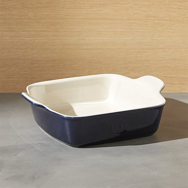 Emile Henry Modern Classic Twilight Blue Square Baking Dish