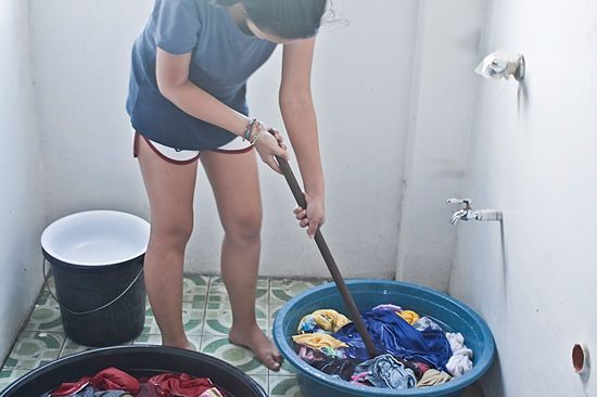 How to Wash Clothes by Hand: 12 steps - wikiHow. Every now and then I have way more laundry to wash than I have time in the day, and it usually all desperately needs to be done. I'm thinking about doing this while also running the washer and dryer!