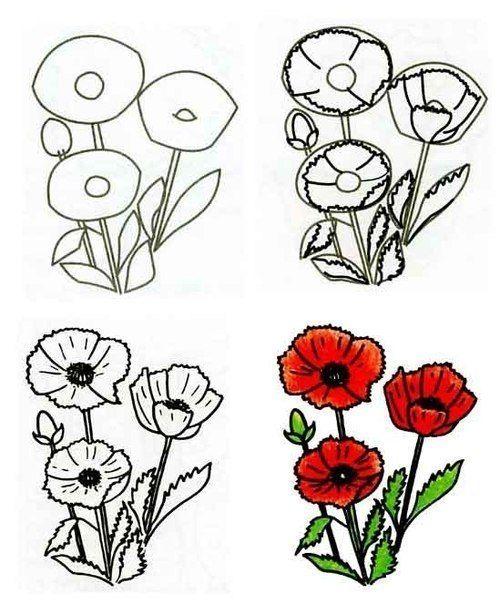 Die besten 17 Ideen zu Blumen Malen auf Pinterest   Gemalte blumen ...