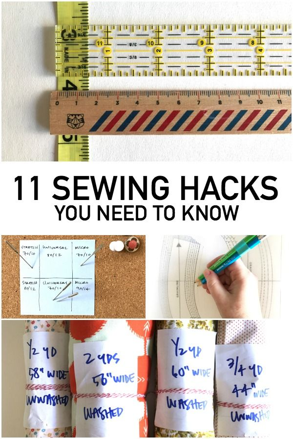 Do you know the easiest way to check your seam allowance? What about storing your needles? Find out these hacks (and more!) right here.