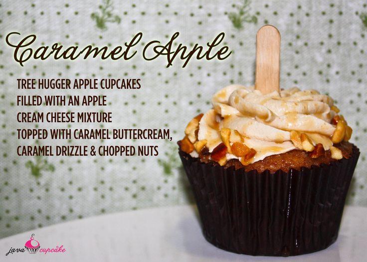 Caramel Apple CupcakesDesserts, Sweets Treats, Food, Cream Cheese, Caramel Apples Cupcakes, Baking Ideas, Filling Cupcakes Recipe, Caramel Apple Cupcakes, Java Cupcakes