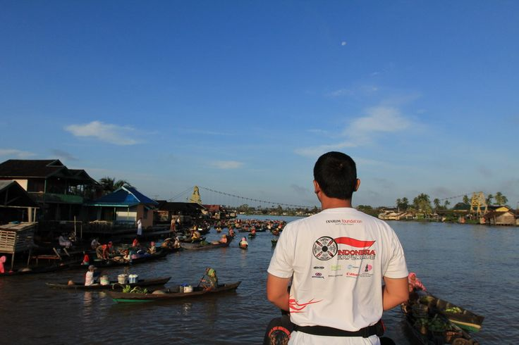 Lok Baintan traditional floating market at Banjarmasin, South Kalimantan.....