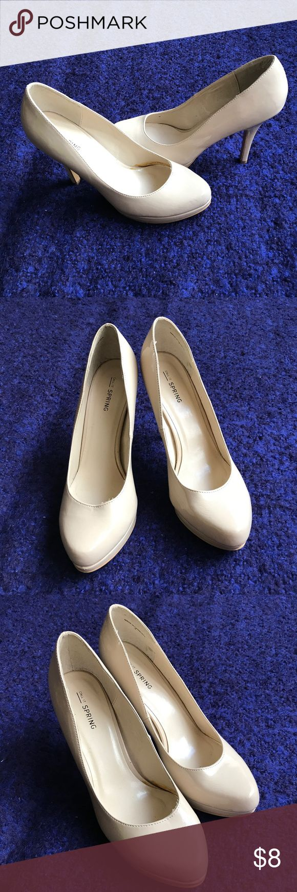 Call It Spring Cream Pumps Very nice and comfortable pumps. Call It Spring Shoes Heels